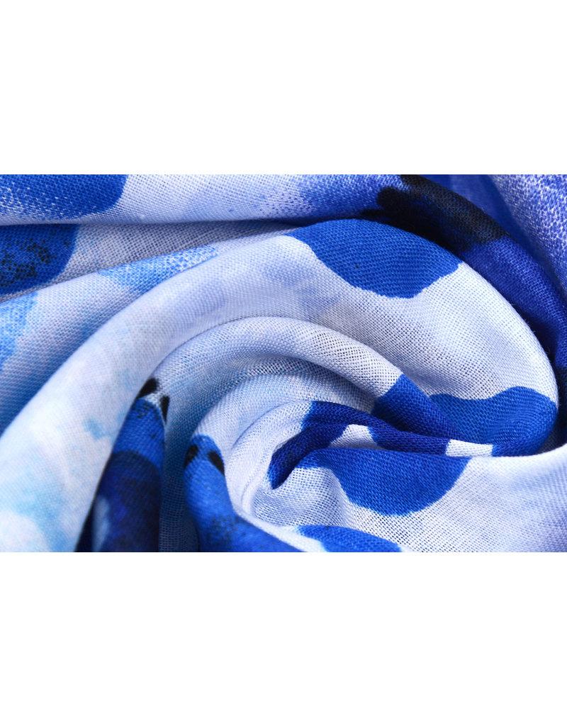 Baumwolle Leopardenmotiv Watercolor Blau