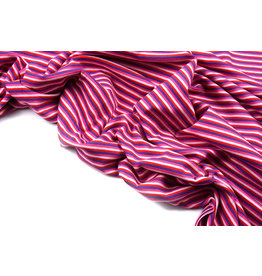 Cotton Jersey Streep Multi Roze