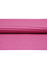 Cotton Jersey Streep Multi Roze