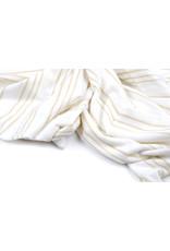 Viskose-Trikot mit Lurex-Streifen Weißgold