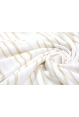 Viscose Jersey with lurex Stripes White Gold