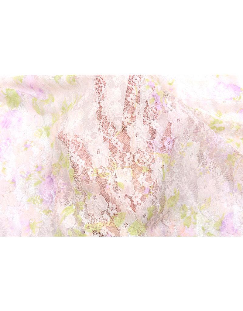 Stretch Spitze Hilo Pink Green