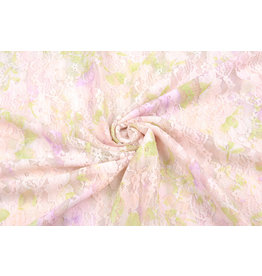 Stretch Spitze Hilo Pink Green