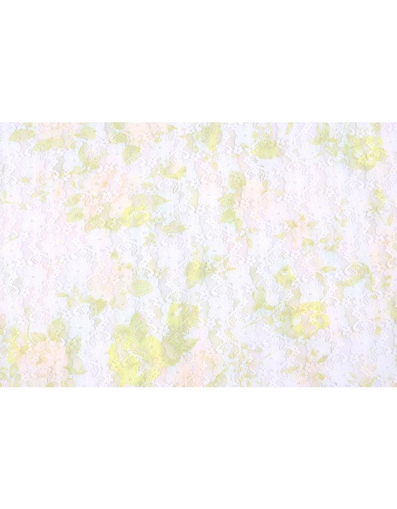 Stretch Spitze Hilo weiß grün
