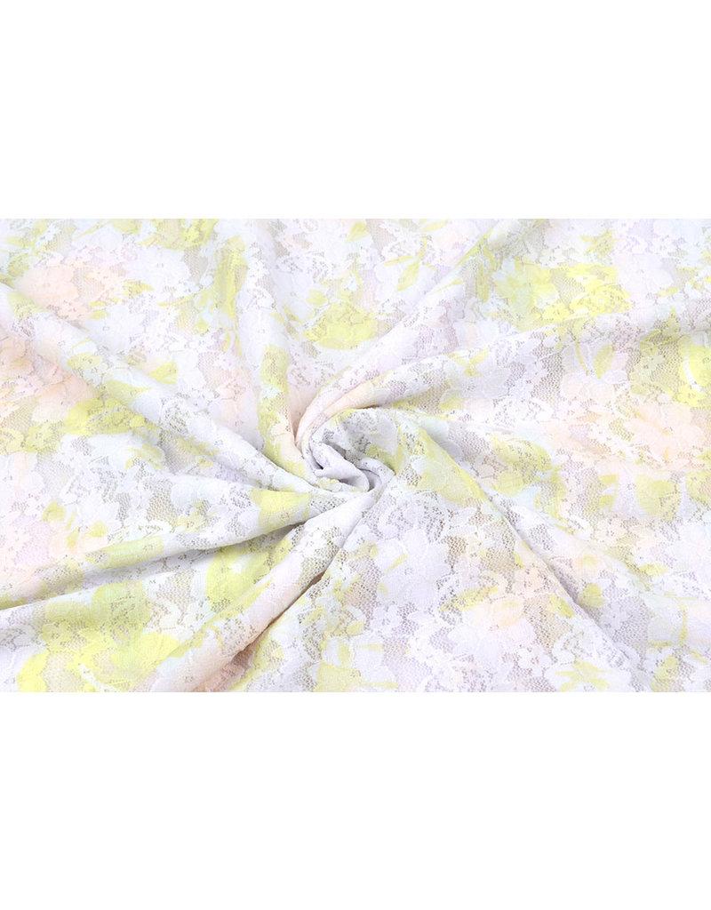 Stretch lace Hilo White Green