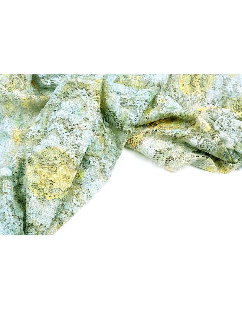 Stretch-Spitze Hilo altes grünes Gelb
