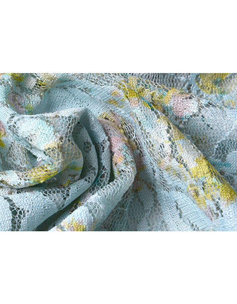 Lace Puawai Multi blue