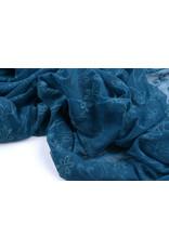 Lace jasmine flower Petrol Blue