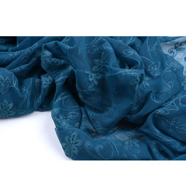 Lace jasmine flower Petrol Blue