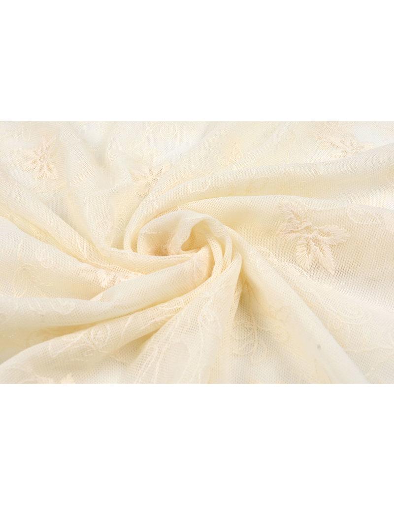 Kant Jasmijn bloem Creme