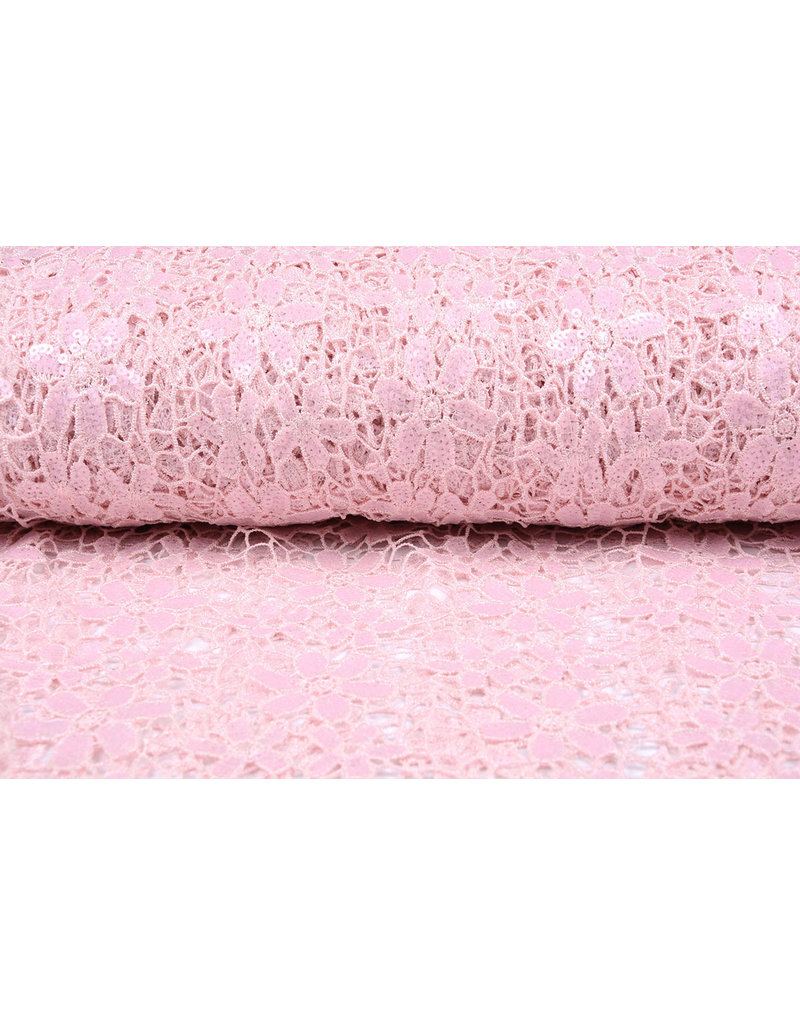 Lace Sequins pua nani Light Pink