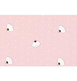 100% Washed Cotton Angin Dot Powder Pink