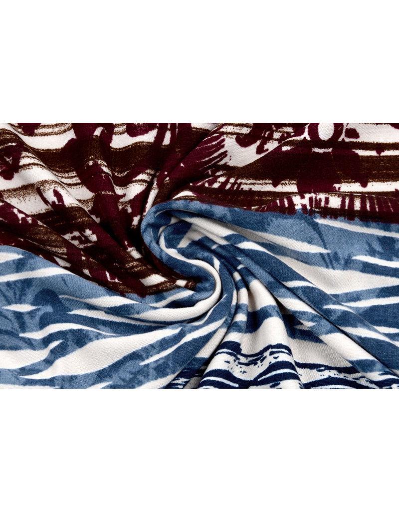 Cotton Jersey  Simmer Blumen Blau