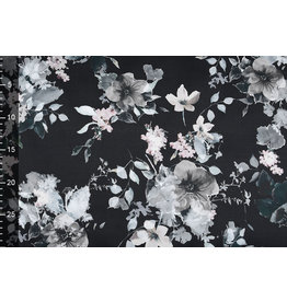 Stretch Cotton Flowers Flor