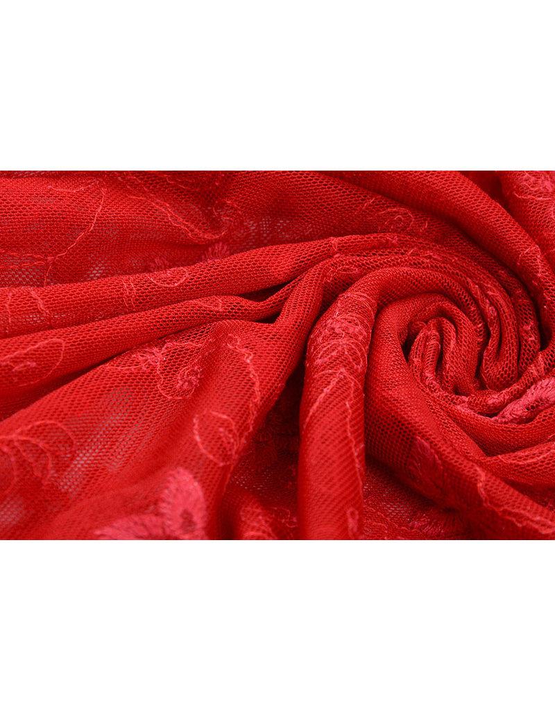Kant Jasmijn bloem Rood