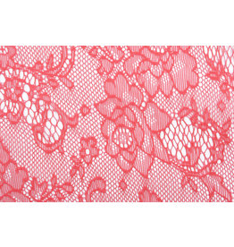 Lace Roses Doorna Coral Red