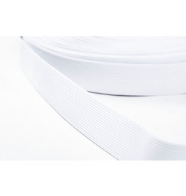 Gummiband Glatt Qualität Weiß 25 mm