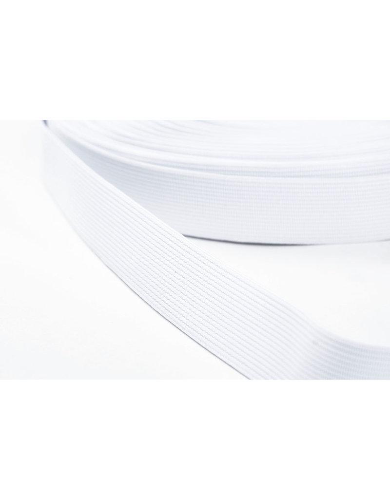 Band elastiek Soepel kwaliteit Wit 25 mm