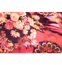 Yoryu Chiffon Printed Asian Red