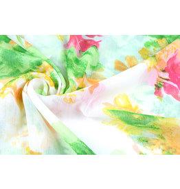 Yoryu Chiffon Printed Spring Flowers