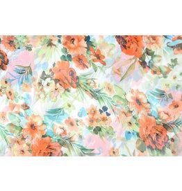 Yoryu Chiffon Printed Tropical Flowers