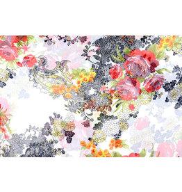 Yoryu Chiffon Floral Oriental gedruckt