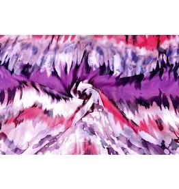 Yoryu Chiffon Printed Tie & Dye Purple