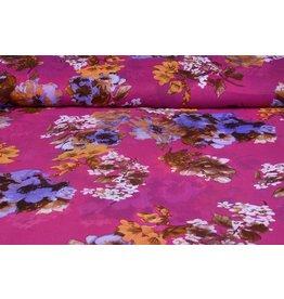 Yoryu Chiffon bedruckt Blume Cyclamen