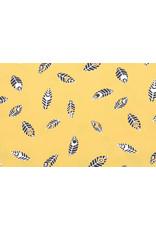100% Baumwolle Federn Botanica Gelb