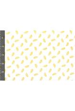 100% Baumwolle Federn Plomes  Weiß Gelb
