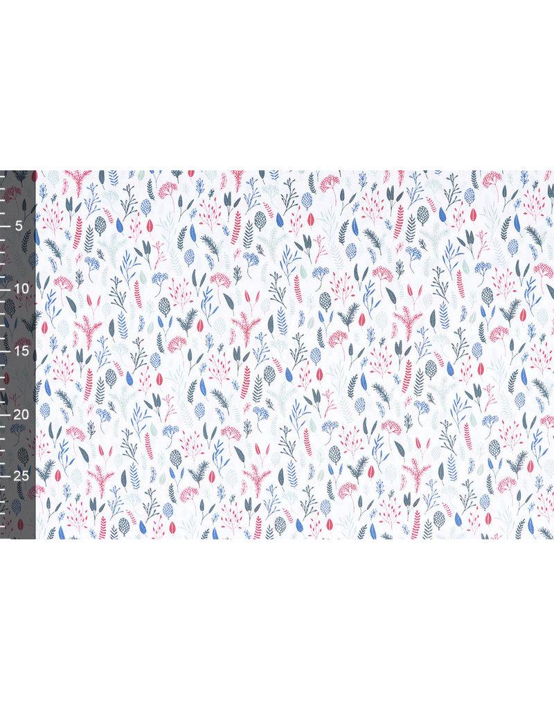 Stenzo 100% Baumwolle Lianna Weiß Multi Grün