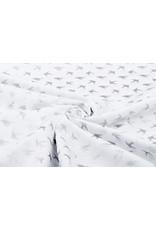 100% Katoen Vogeltjes Wit Zilver
