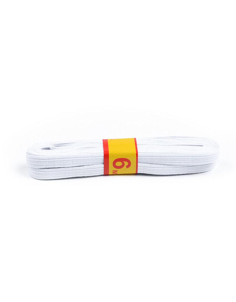 Bündel 6 meter elastisch 8 mm breit Weiß