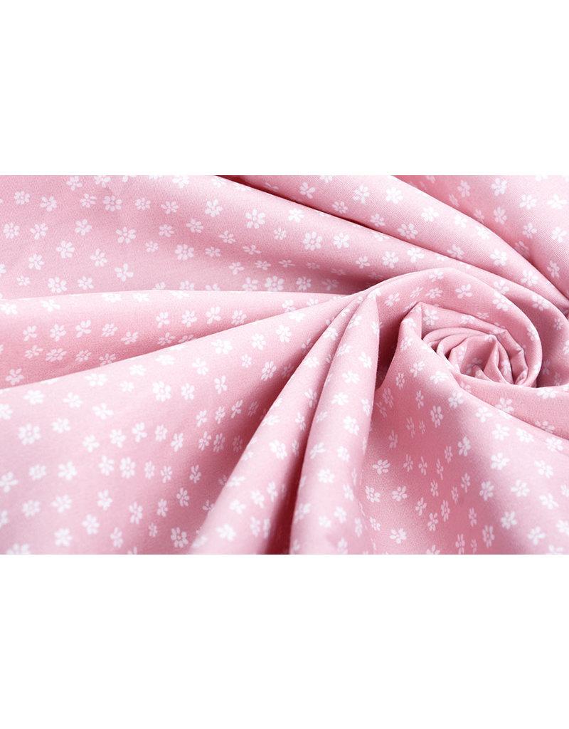 100% Katoen Petit Bloemetjes Roze