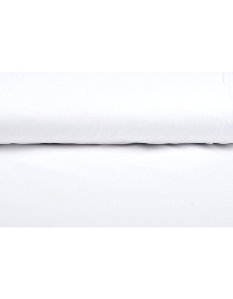 Poplin laken katoen 240 cm breed Wit