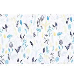 100% Baumwolle Lianna Weiß Multi Blau