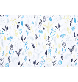 Stenzo 100% Baumwolle Lianna Weiß Multi Blau