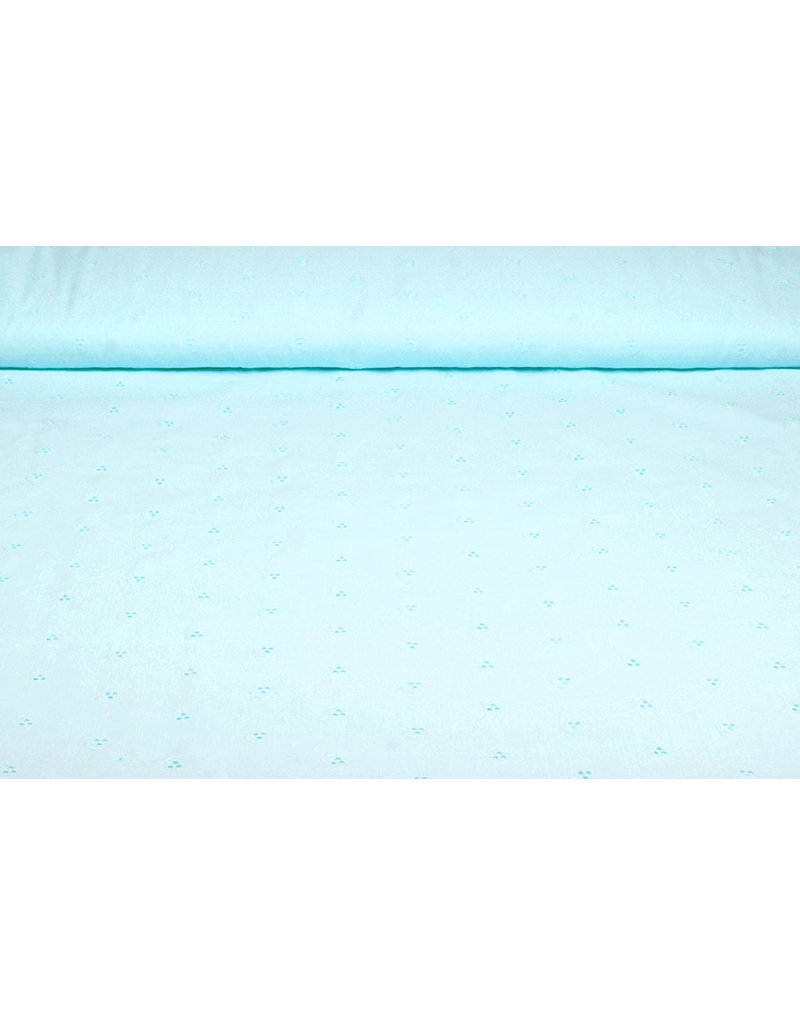 100% Baumwolle Broderie Imbali Baby Blue