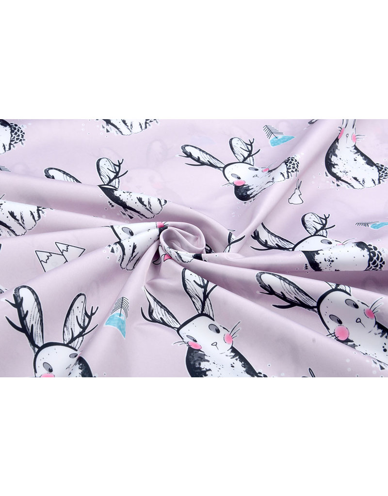 Polyester Polyester Raincoat Rabbit Lilac