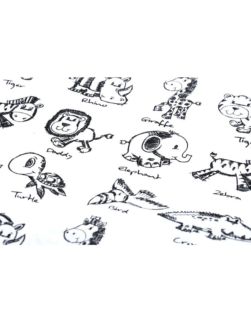 100% Cotton Sketch Animals