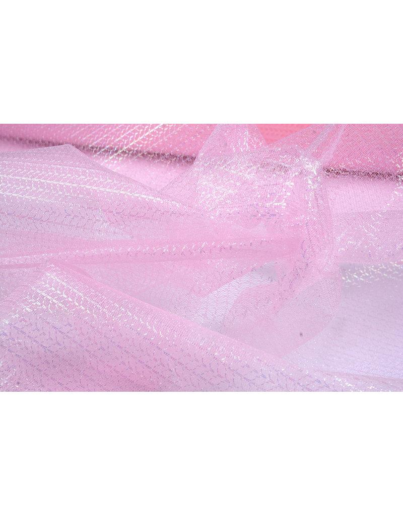 Lurex auf Tüll Brilo Hell-Pink