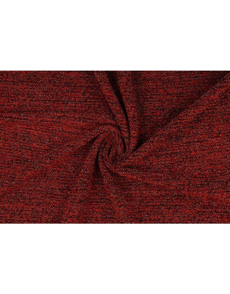 Knitted Fabric with glitter Illia Red