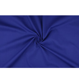 Poplin Kobaltblauw