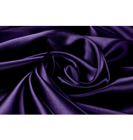 Stretch Satin Dark Purple