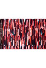 Oeko-Tex®  Cotton Jersey Digitaal Ink Textuur Rood