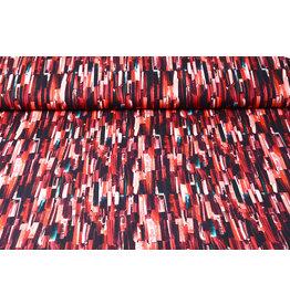 Oeko-Tex®  Baumwolljersey Digitaldruck Struktur Rot