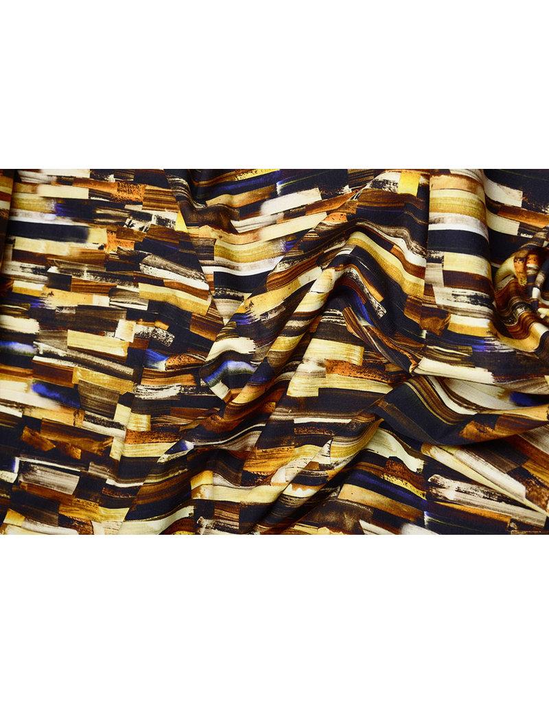 Oeko-Tex®  Cotton Jersey Digitaal Ink Textuur Brique Oker