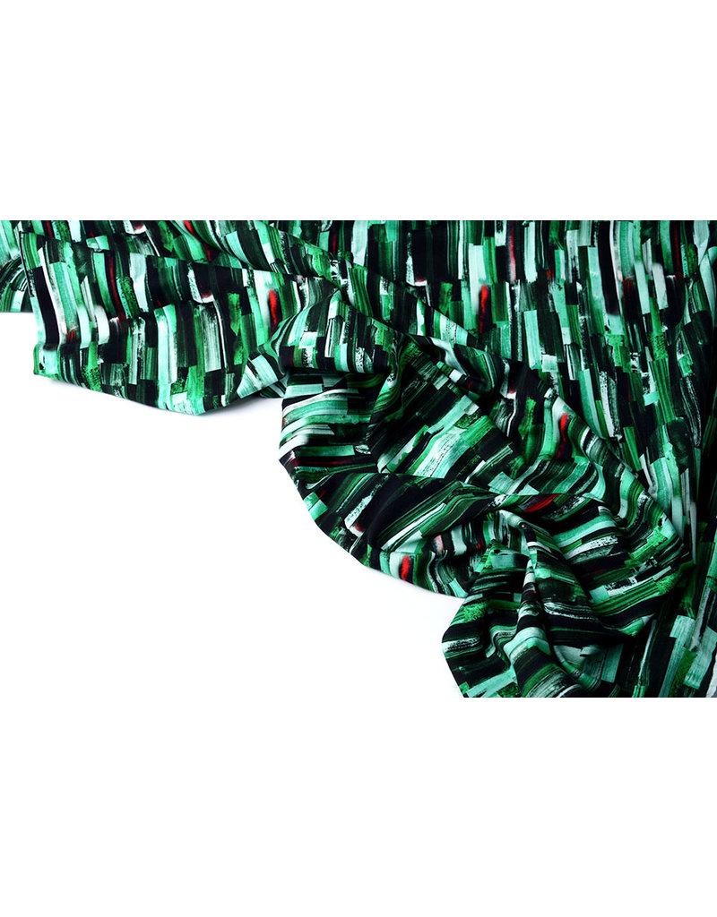 Oeko-Tex®  Baumwolljersey Digitaldruck Struktur Grün