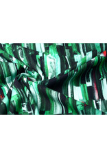 Oeko-Tex®  Cotton Jersey Digitaal Ink Textuur Groen
