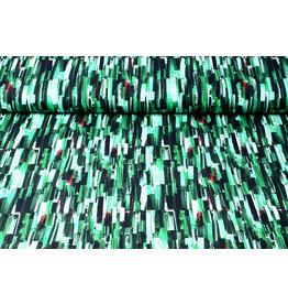 Oeko-Tex®  Cotton Jersey Digital Ink Texture Green